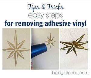 Need to remove vinyl from a surface this easy tip is no for Vinyl lettering adhesive remover