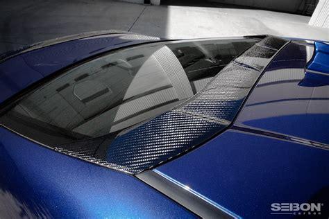 carbon fiber rear roof spoiler    scion frs