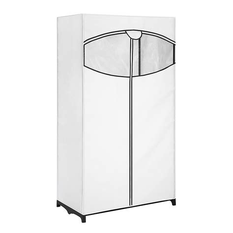 lowes garment rack shop style selections white steel garment rack with cover