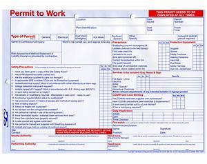multipurpose permit to work available from sg world With working at height permit to work template