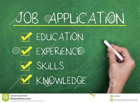 job application employment recruitment concept stock image