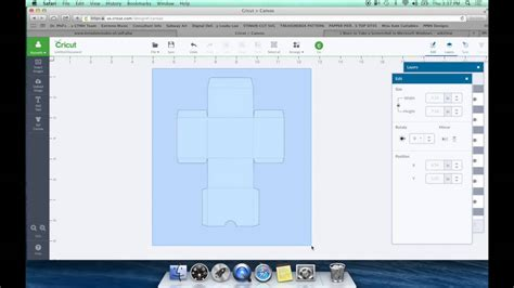 diy box template  cricut design space youtube