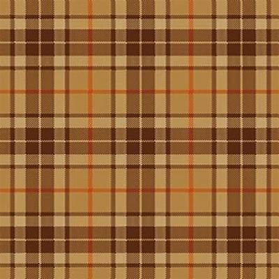Thompson Brown Tartan Rug Clan Finder 62.08