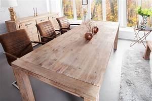 Table Extensible Bois Massif : table manger bois massif cuisine naturelle ~ Teatrodelosmanantiales.com Idées de Décoration