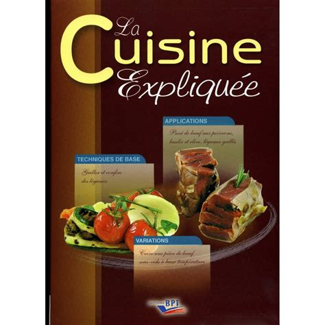livre cuisine livres de cuisine professionnelle cap cuisine et bts