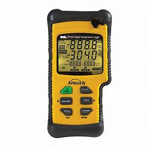 Uei Dt304 Digital Logging Thermometer With Quad
