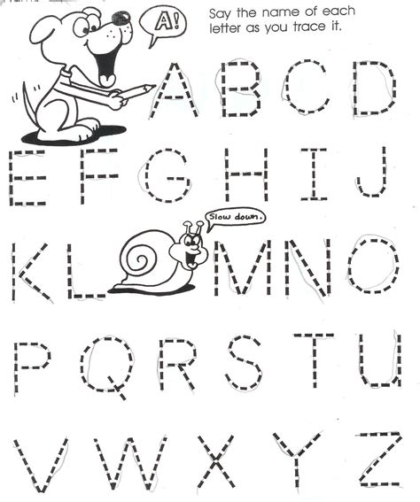 letter worksheet for 4 year kidz activities