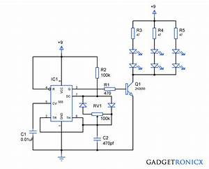 Pwm Led Dimmer Circuit Using Ic 555