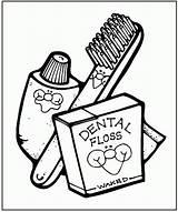 Coloring Preschool Pages Teeth Dentist Popular sketch template