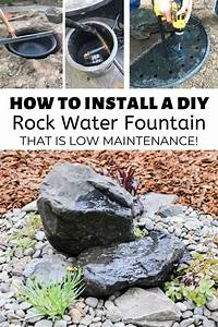How, To, Install, A, Diy, Rock, Water, Fountain