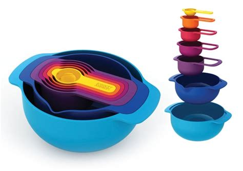 joseph joseph nesting measuring cup mixing bowl set  piece multi color cutlery