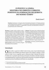 O Ponto E A Linha  Hist U00d3ria Do Direito E Direito Positivo