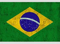 Grunge Dirty and Weathered Brazilian Flag, Old Metal