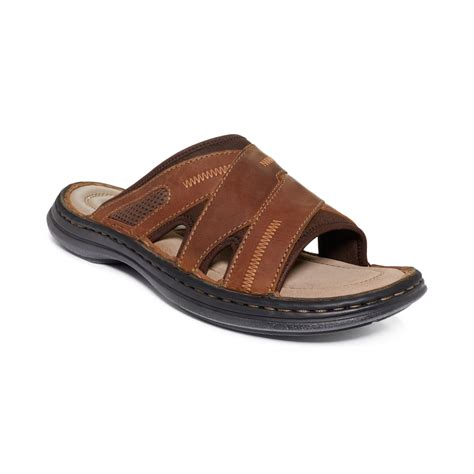 Scotty Slide Hush Puppies hush puppies 174 relief slide sandals in brown for