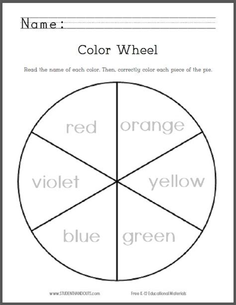 primary colors worksheets for grade 1 color of