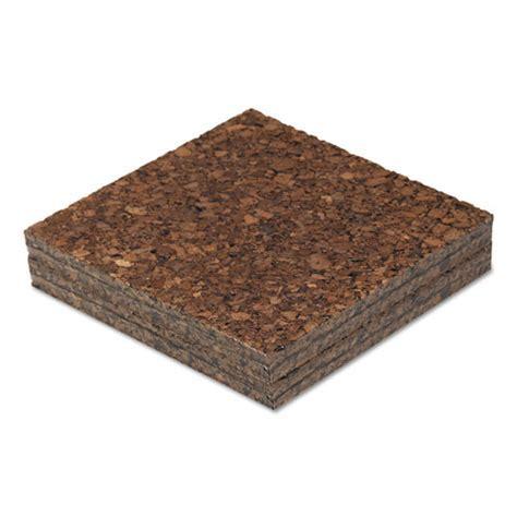 Cork Tile Panels, Dark Brown, 12 x 12, 4/Pack   Lighthouse