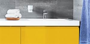 renover et relooker sa cuisine salle de bain et ses sols With meuble de salle de bain jaune