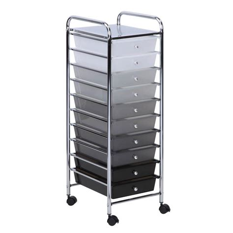 home depot kitchen drawer organizer honey can do 10 drawer shaded storage cart crt 05255 the 7113