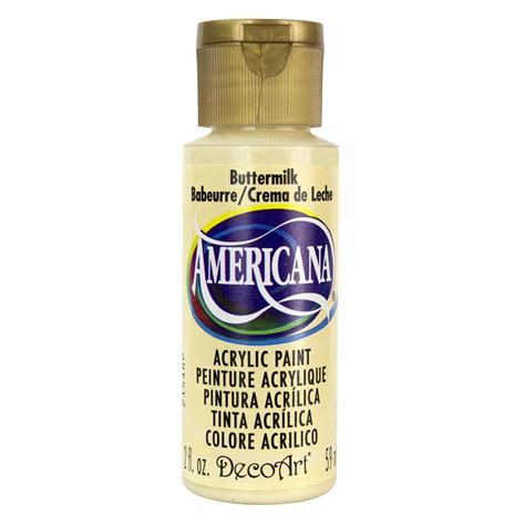 decoart americana 2 oz buttermilk acrylic paint dao3 3 the home depot
