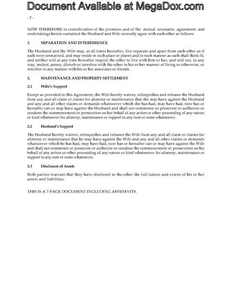 alberta separation agreement legal forms  business