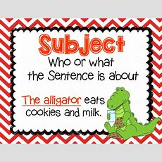 Mrsdecatur's Little Gators {texas Size} Subject & Predicate