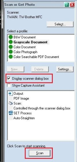 unable  scan   automatic document feeder adf