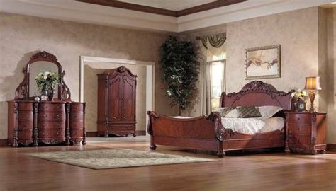 classical home bedroom setwood hand carving king size