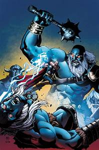 Thor vs Frost Giants colored by ReillyBrown on DeviantArt