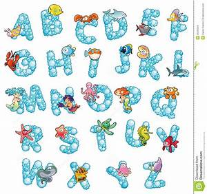 alphabet with fish and bubbles stock images image 25342534 With fish alphabet letters