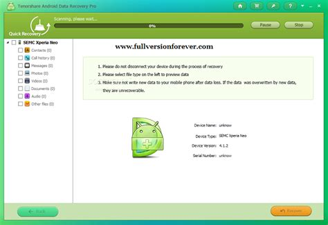 android recovery software android data recovery pro version