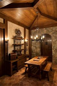 20, amazing, rustic, basement, design, ideas