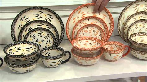 dinnerware qvc floral lace tations temp piece