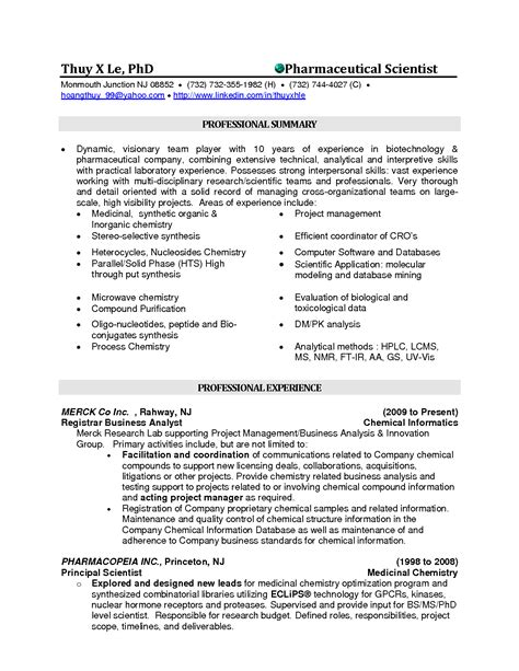 Pharmaceutical Chemist Resume Sles by Professional Biochemist Resume Again A Summary Is Used