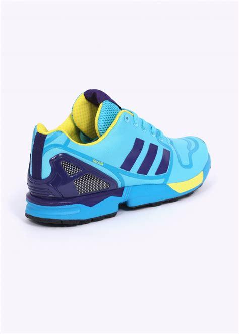 adidas originals zx flux techfit trainers cyan