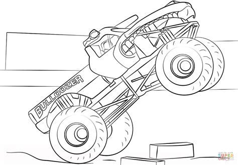 Ausmalbild Bulldozer Monster Truck Ausmalbilder