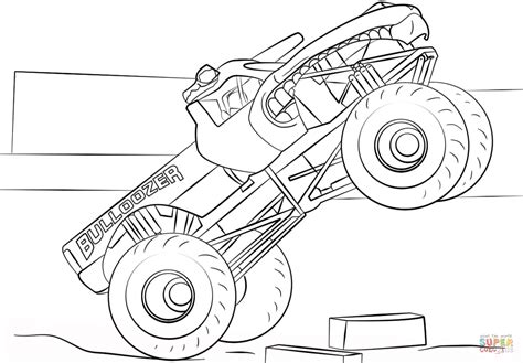 New drawings and coloring pages will be added regularly, please add this site to your favorites! Bulldozer Monster Truck coloring page | Free Printable ...