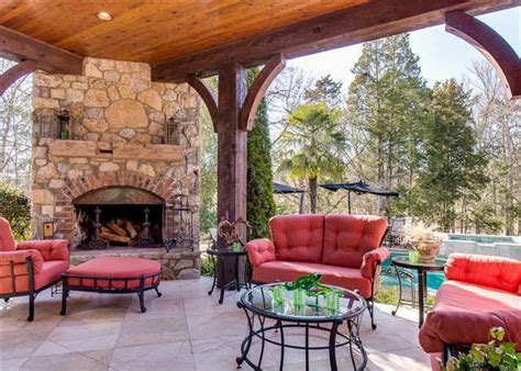 covered patio fireplace home design exles