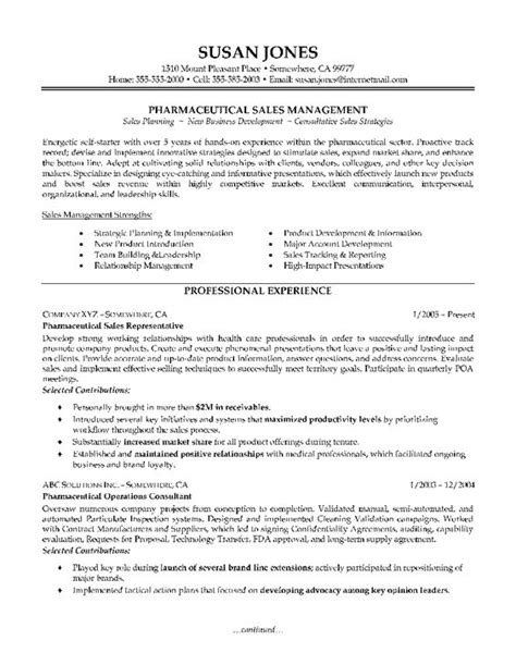 sales pharmaceutical resume