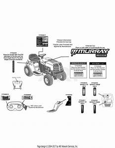 Mtd 13ac76lf058  2012   M12538  2012  Parts Diagram For Label Map Murray