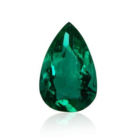 carat green colombian emerald pear shape sku