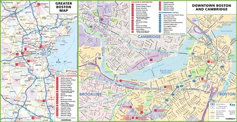 boston colleges  universities map