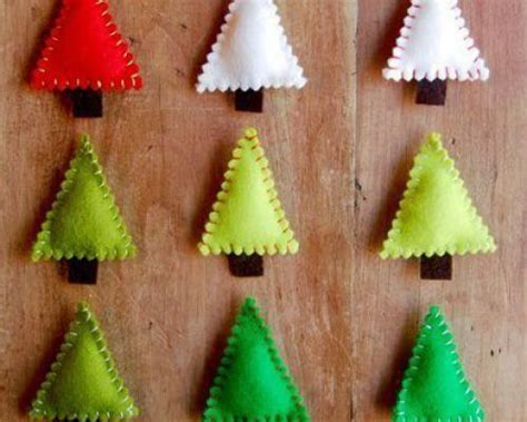 felt christmas crafts homemade christmas tree decorations