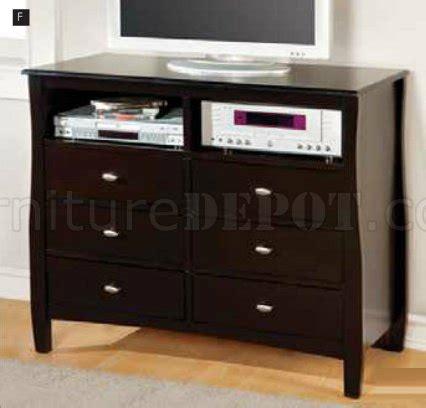8 Milan Bedroom Set Espresso by Cm7805 Bedroom In Espresso W Platform Bed Options