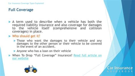 Car Insurance Coverage Types Explained In A Short