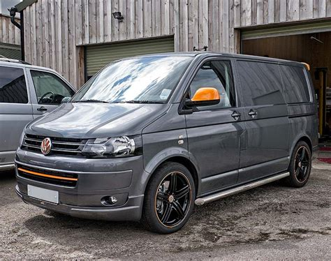 vw  camper cool  grey  orange vw transporter