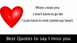 Best Quotes to ... Miss Some1 Quotes