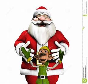 Santa And Elf Stock Illustration Illustration Of Pleased
