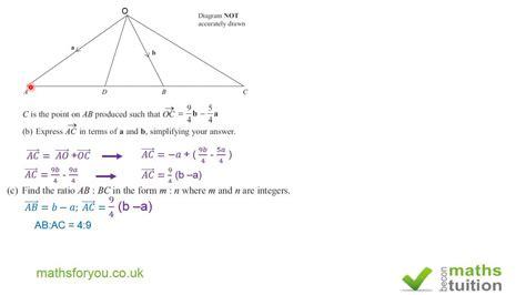 vectors gcse igcse higher tier maths 10th grade algebra