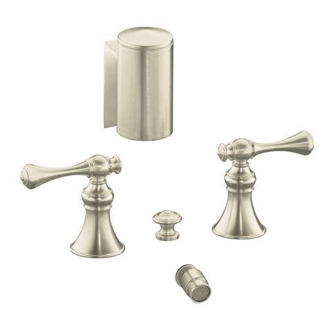 kohler revival bidet faucet kohler revival 2 handle bidet faucet in vibrant brushed
