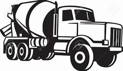 Concrete Clipart Truck Cement Mixer Ready Vector